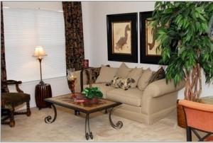 Bristol Oaks Apartment Living Area
